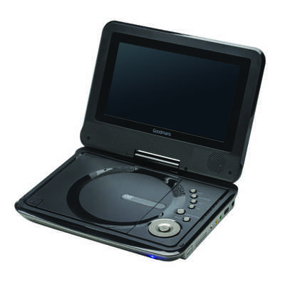 7 Inch Portable DVD Player Black