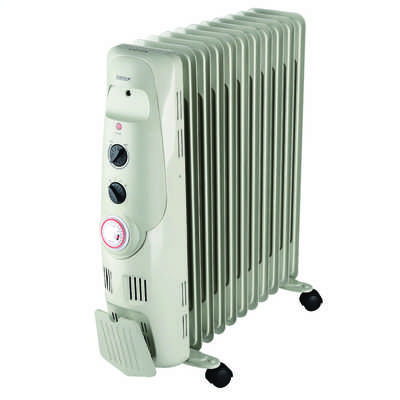 2.5kW Oil Filled Radiator with 24H Timer Grey