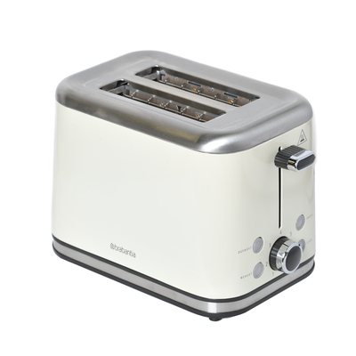 2 Slice Toaster Brushed Stainless Steel Almond