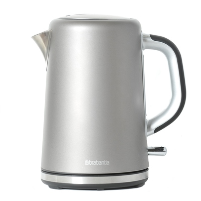 1.7 Litre Soft Grip Kettle Brushed Stainless Steel Platinum