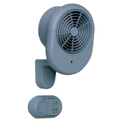 3000W Compact Commercial Fan Heater with Remote Grey