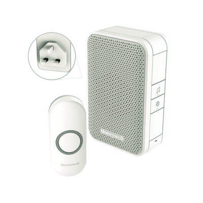 150m Wireless Plug In Door Chime Kit White
