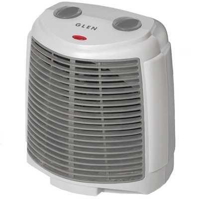 2kW Upright Fan Heater Grey