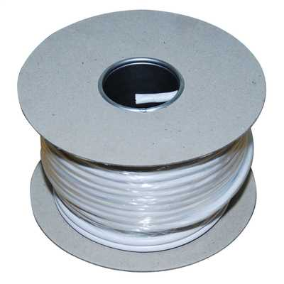 1.0mm² Round Flexible Cord White (50m Drum)