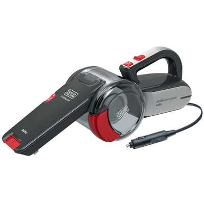 12V Car Handheld Dustbuster Pivot Grey and Red