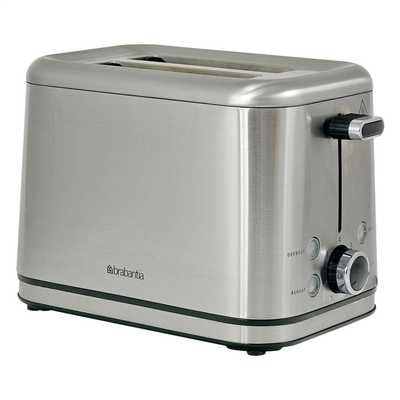 2 Slice Toaster Brushed Stainless Steel