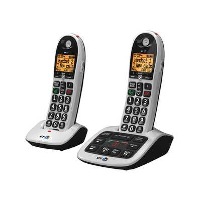 BT4600 Twin Cordless Telephone With Answer Machine Silver