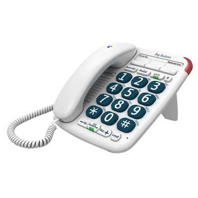 Big Button 200 Corded Telephone White