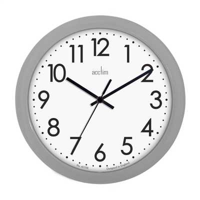 Abingdon Wall Clock Grey