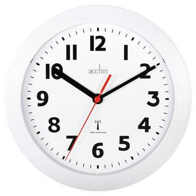 Parona Radio controlled Wall Clock White