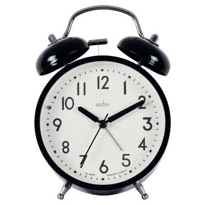 Newstead Double Bell Alarm Clock Black