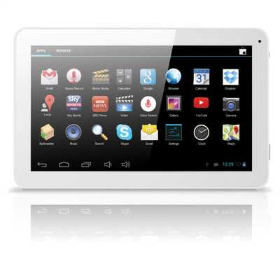 10.1 Inch Android Quad Core Twin Cam White