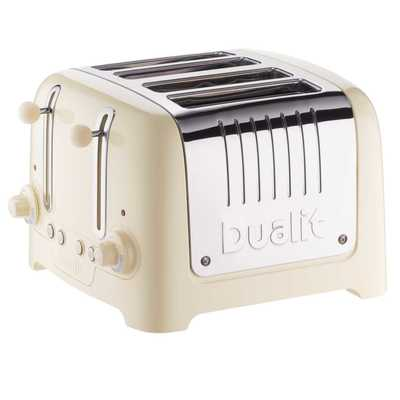 4 Slice Lite Toaster High Gloss Cream