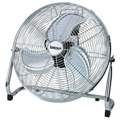 18 Inch Floorstanding Air Circulator Fan Chrome
