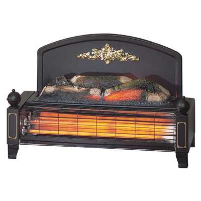 2kW Yeominster Traditional Freestanding Radiant Fire Black/Brass