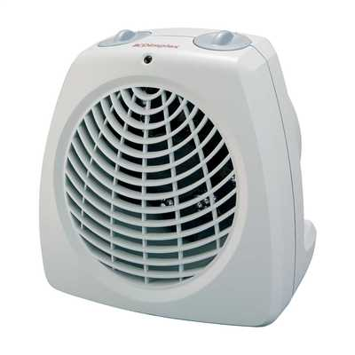 2kW Upright Fan Heater With Thermostat White