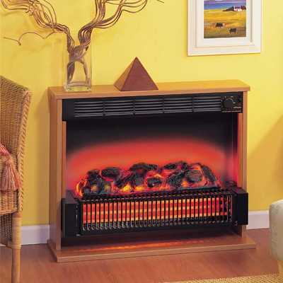 2kW Theme Radiant Fire Black With Cherry Finish