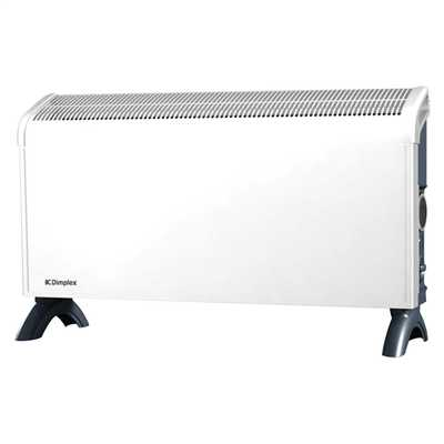 2kW Portable / Wall Convector Heater with Thermostat Timer White/Grey