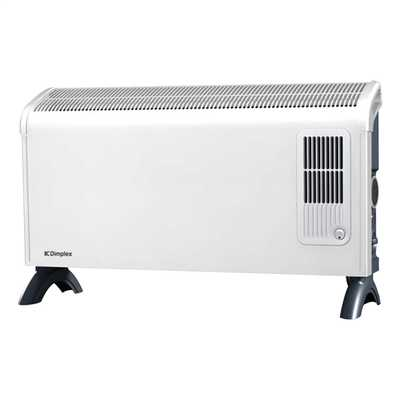3kW Wall Mountable Convector Heater with Timer/ Fan White/Grey