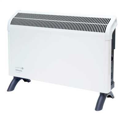 2kW Portable Convector With Thermostat White/Grey