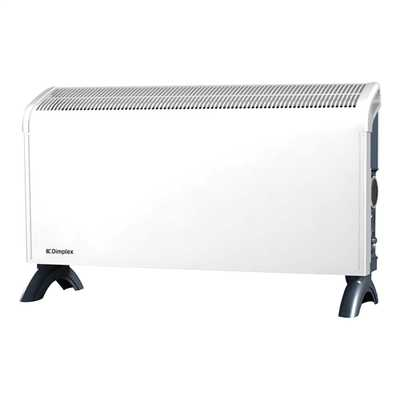 3kW Convector Heater With Timer White/Grey