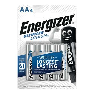 Energizer AA Ultimate Lithium 3+1 Pack