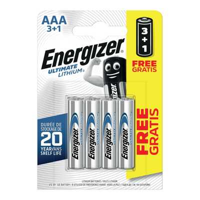 Energizer AAA Ultimate Lithium 4 Pack