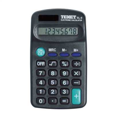 8 Digit Desk Calculator Black