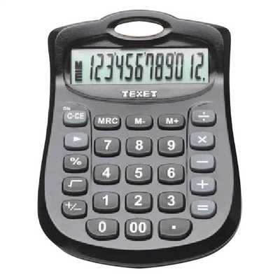 12 Digit Desk Calculator Black