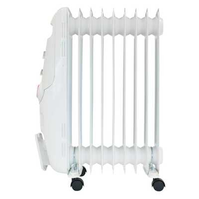 2kW Oil Filled Radiator with 24H Timer White