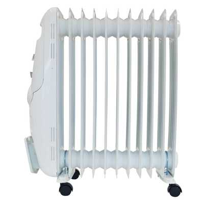 2.5kW Oil Filled Radiator White