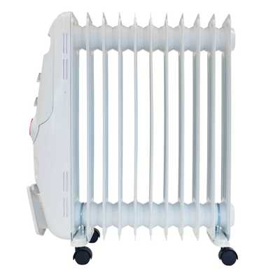 2.5kW Oil Filled Radiator with 24H Timer White