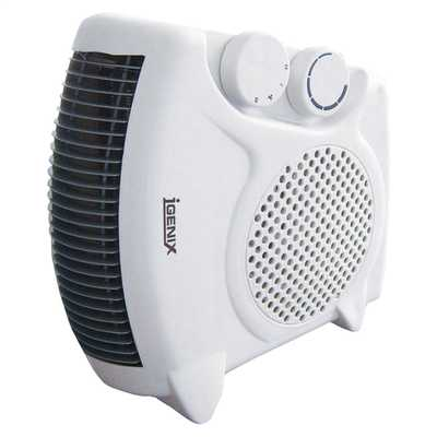 2kW Flat / Upright Fan Heater White