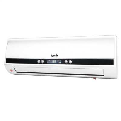 2kW PTC Wall Fan Heater White