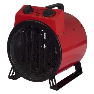 3kW Commercial Drum Fan Heater Red
