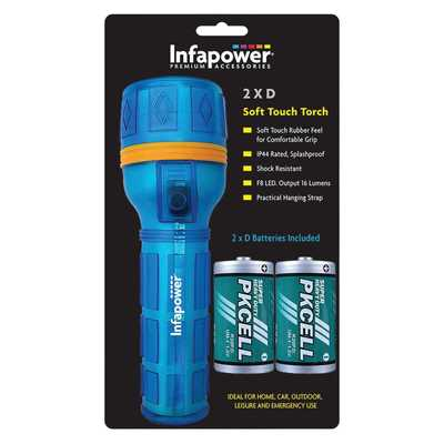 Infapower 2D Soft Touch Rubber Torch