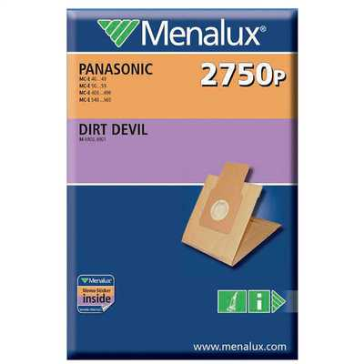 Panasonic Type Paper Dustbags for Upright models with Two Filters (Pack of 5)
