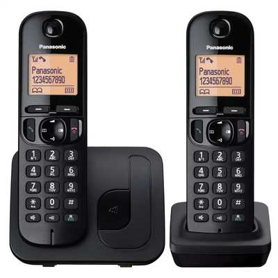 Twin Dect Nuisance Call Block Telephone Black