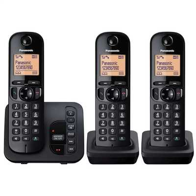 Trio Dect Call Block Telephone with Answer Machine Black