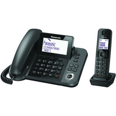 Corded Phone with Answer Machine and Cordless Handset