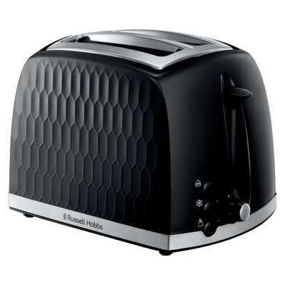 Honeycombe 2 Slice Toaster Black