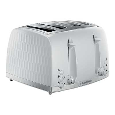 Honeycombe 4 Slice Toaster White