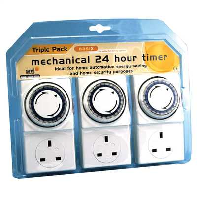 24 Hour Mechanical Timer (Pack of 3)