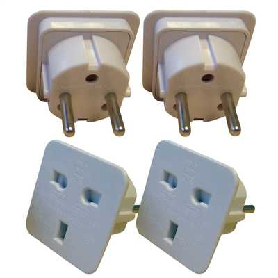 European Travel Adaptor Twin Pack